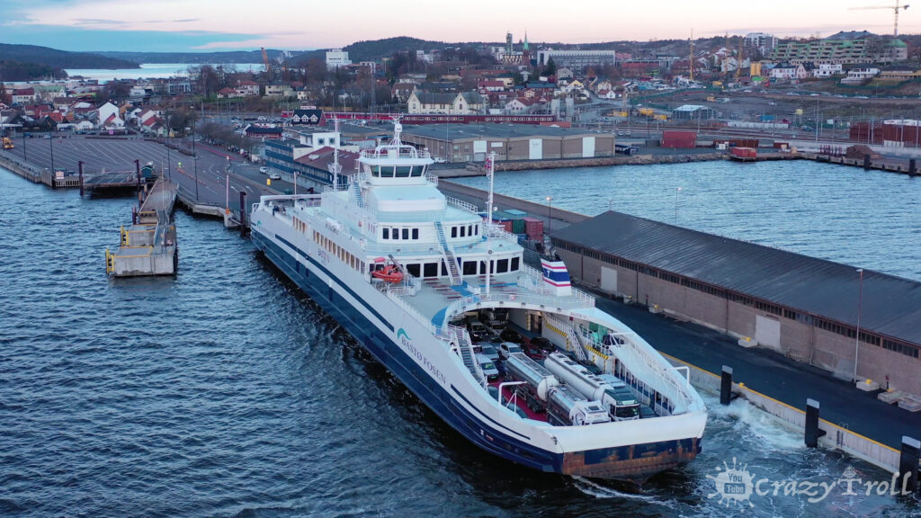 Ferry departing from Moss to Horten