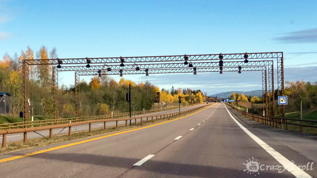 Toll road station on E6 highway in Norway