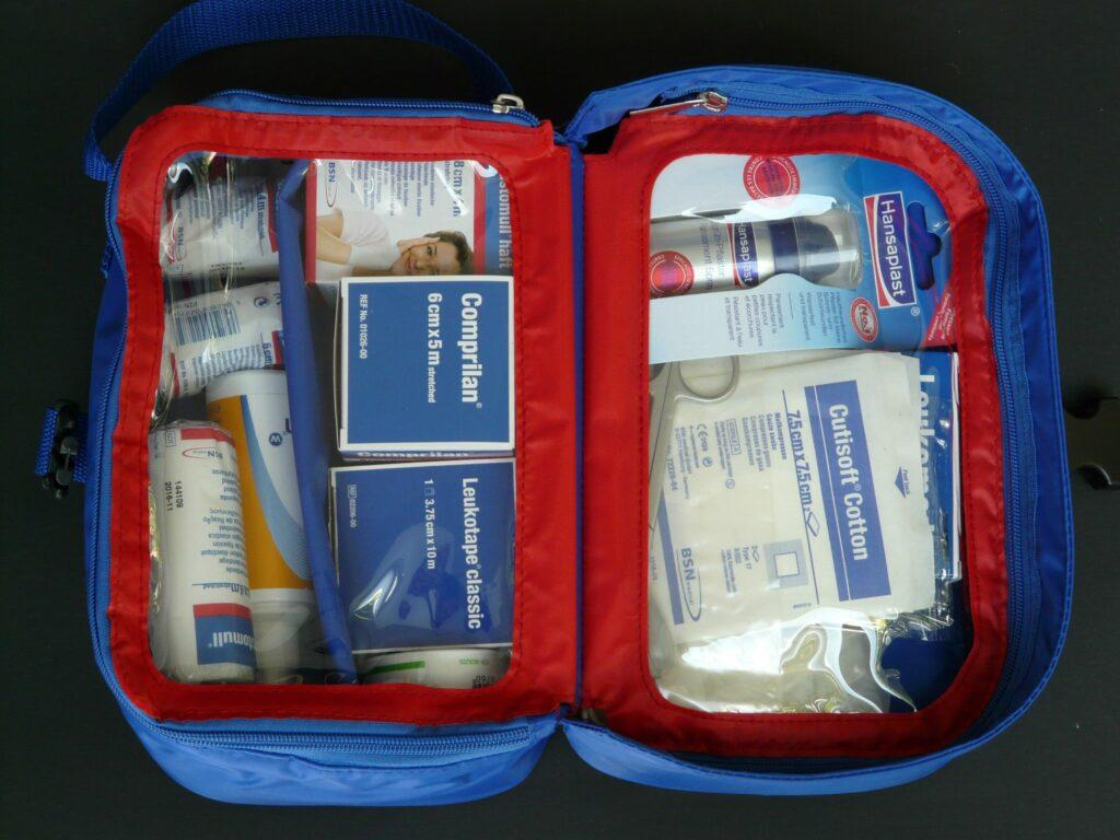 First-Aid Kit for road trip