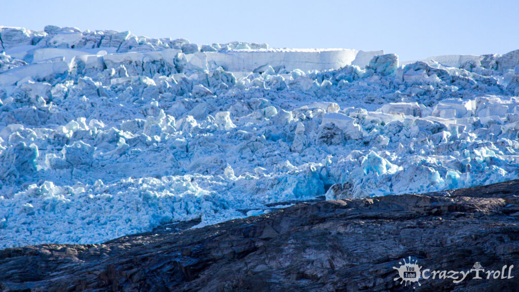 Glacier ice on the top of mountain